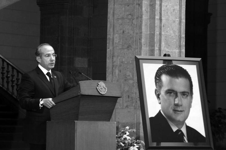 Calderón con Lujambio