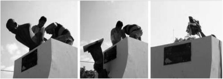 El busto de Mouriño en Campeche