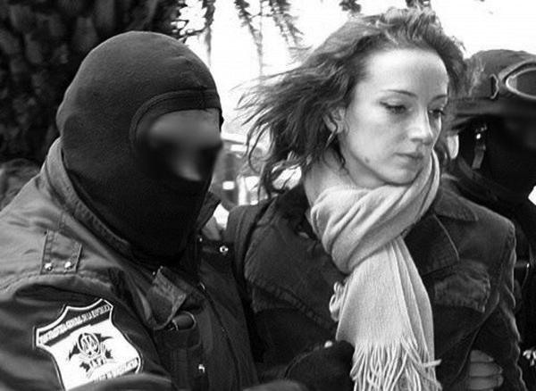 Florence Cassez al salir de la cárcel
