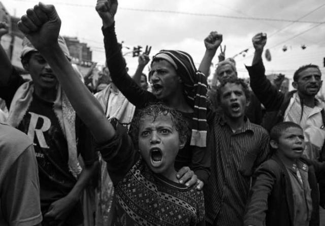 Las protestas en Yemen. (Foto: AFP.)