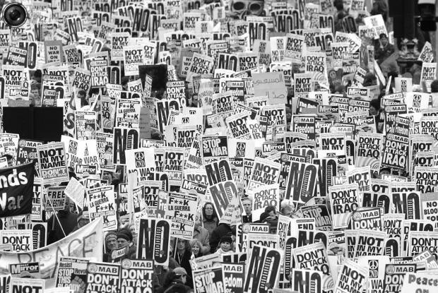 La manifestación de Londres. (Foto: Peter Macdiarmid.)