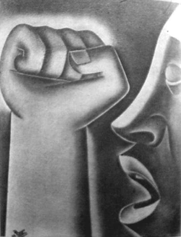 Fragmento de un mural de Francisco Reyes Pérez. (Tomado de aquí.)