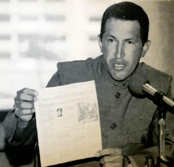 Hugo Chávez en 1992. (Foto: El Universal.)