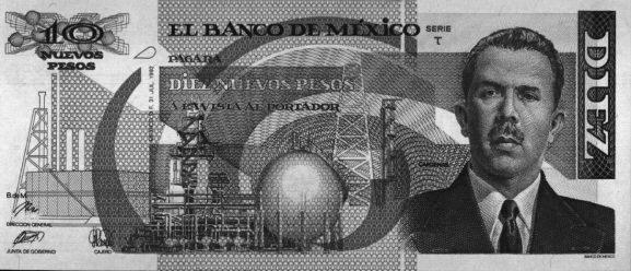 Diez nuevos pesos.