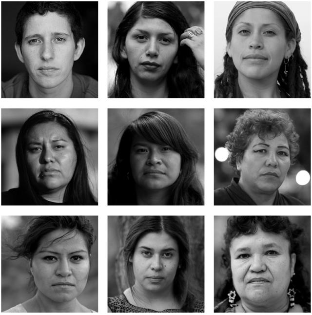"""Las mujeres de Atenco, según el proyecto """"Miradas sostenidas""""."""