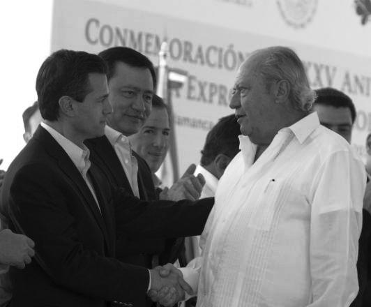 El presidente y el petrolero.