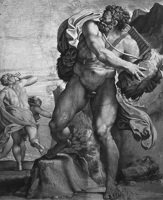 "A. Carracci, ""El cíclope Polifemo"" (1595-1605). Palacio Farnese, Roma."