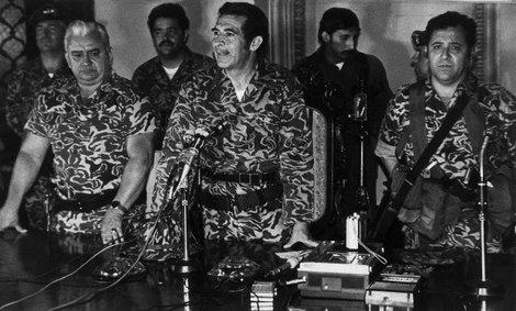 Efraín Ríos Montt en 1982.