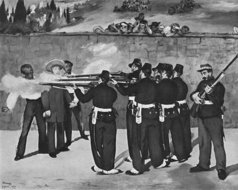 "Edouard Manet, ""La ejecución de Maximiliano"" (1967). Staatliche Kunsthalle, Mannheim"