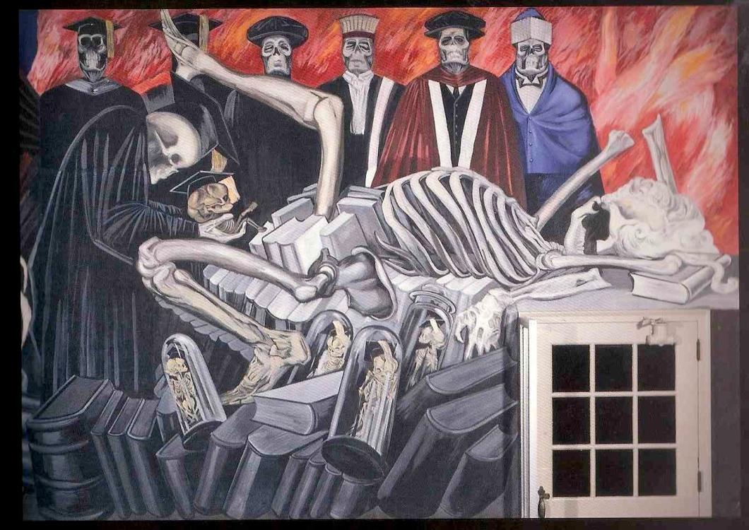 "José Clemente Orozco, ""Dioses del mundo moderno"". Darmouth College"
