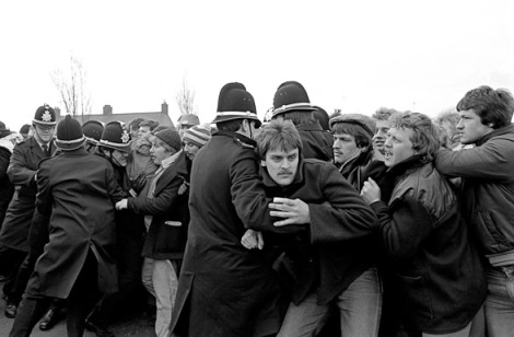 Los mineros de Port Talbot, 1984-1985. (Foto: Martin Shakeshaft.)