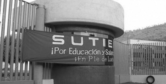 La huelga del IEMS. (Foto: cuadratin.com.)