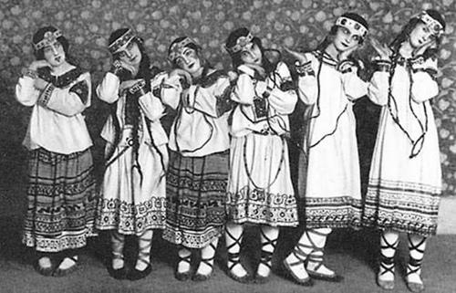 La consagración de Stravinsky, Nijinsky y Roerich.