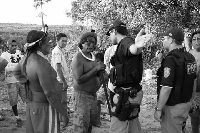 La policía brasileña en Belo Monte.