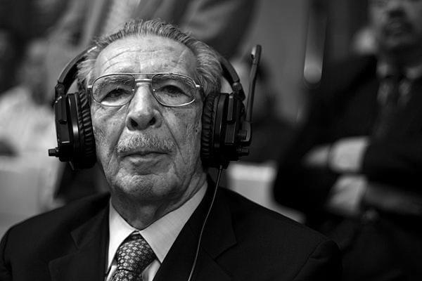 El dictador condenado. (Foto: Luis Soto.)