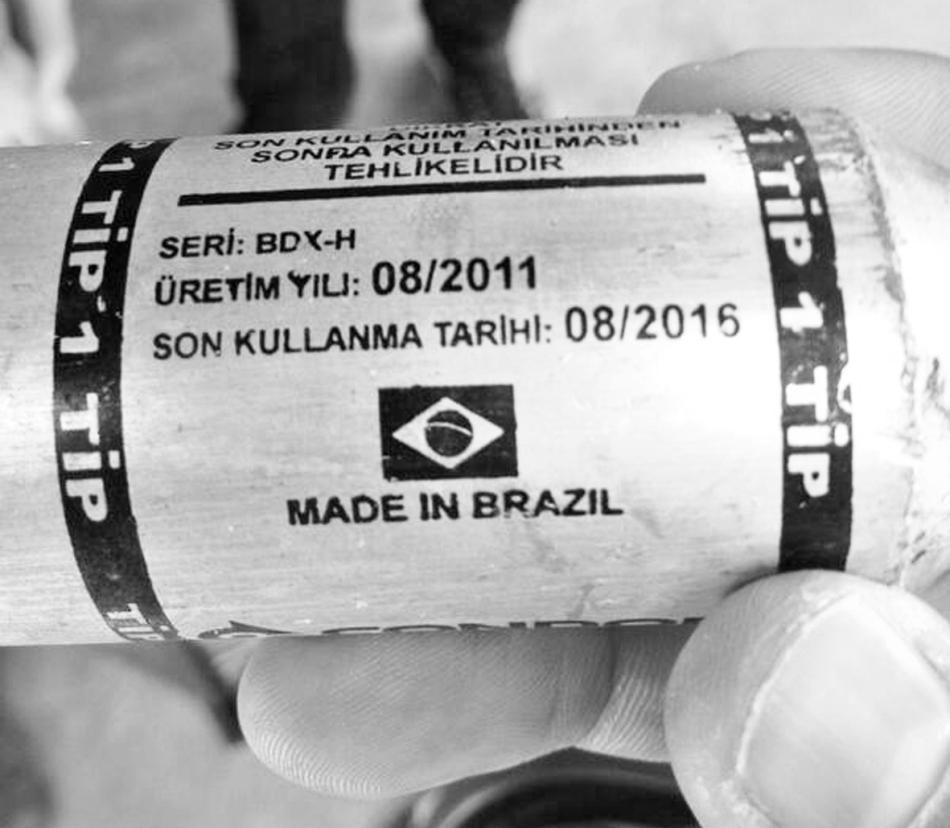 Hecho en Brasil, usado en Turquía