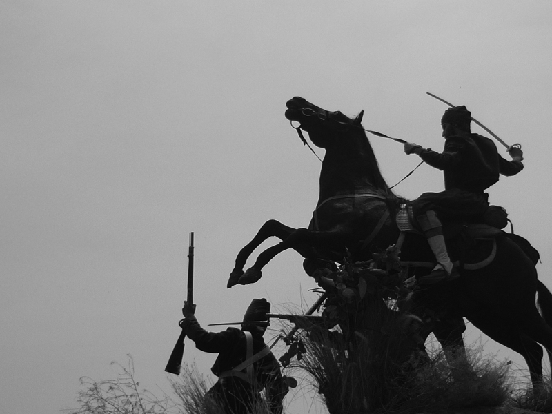 Ficticios franceses. (Fotograma de Cinco de Mayo: La batalla, de Rafa Lara [2013]).