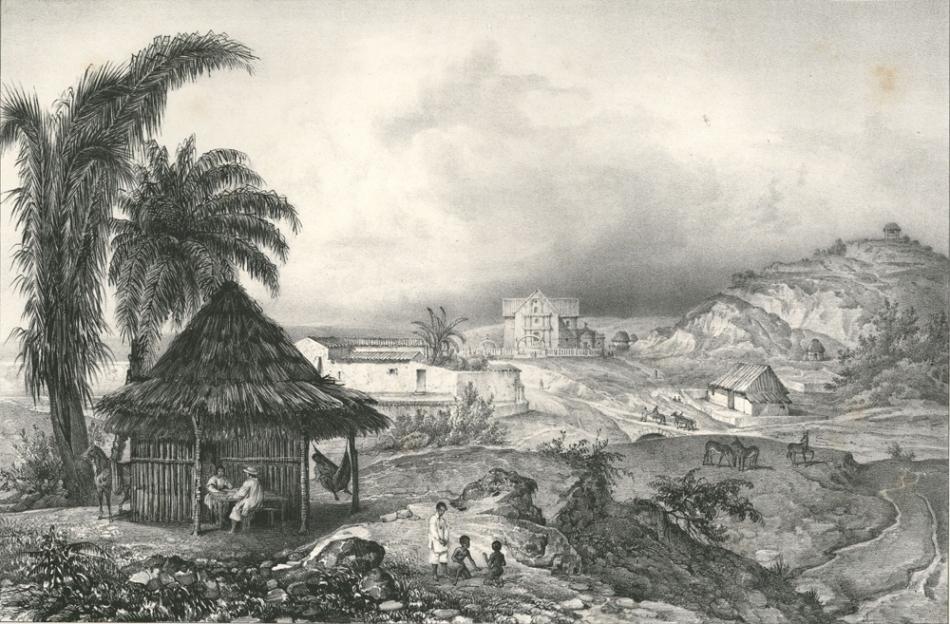 Papanta a principios del siglo XIX, según Karl Nebel