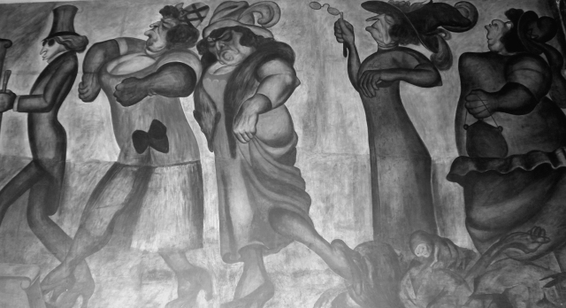 Los ricos, de José Clemente Orozco (1924). Colegio de San Ildefonso.