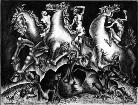 André Fougeron, Los cuatro jinetes del apocalipsis (1937) by