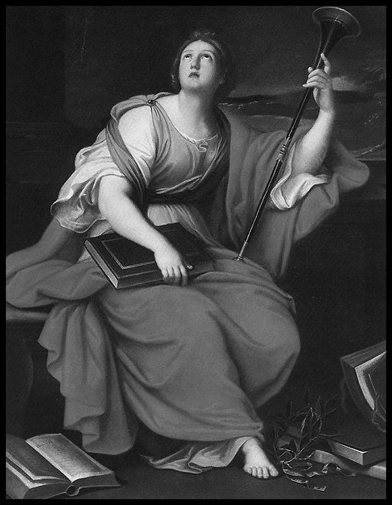 Clío. Pierre Mignard, siglo XVII. La inspiradora musa.