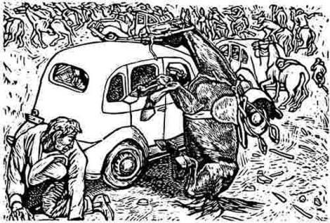 Fascistas mexicanos de antaño. La Acción Revolucionaria Mexicanista en acción el 20 de noviembre de 1935. Alfredo Zalce, s. f., Taller de Gráfica Popular.