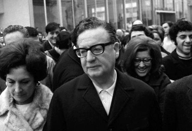 El día de su victoria electoral, 4 de septiembre, 1970. (Foto: Partido Socialista de Chile.)
