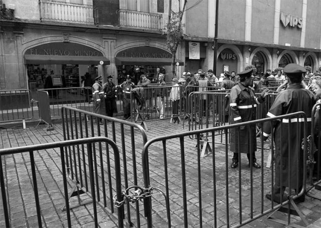 Las inmediaciones del zócalo de la ciudad de México, el día del grito de Peña Nieto