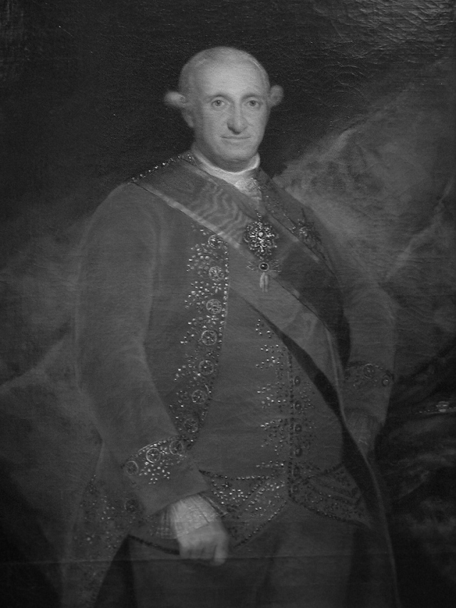 Carlos IV retratado por Francisco Goya