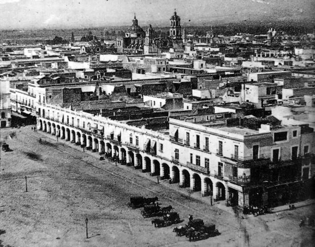 La vieja ciudad de México, vista hacia el suroeste.