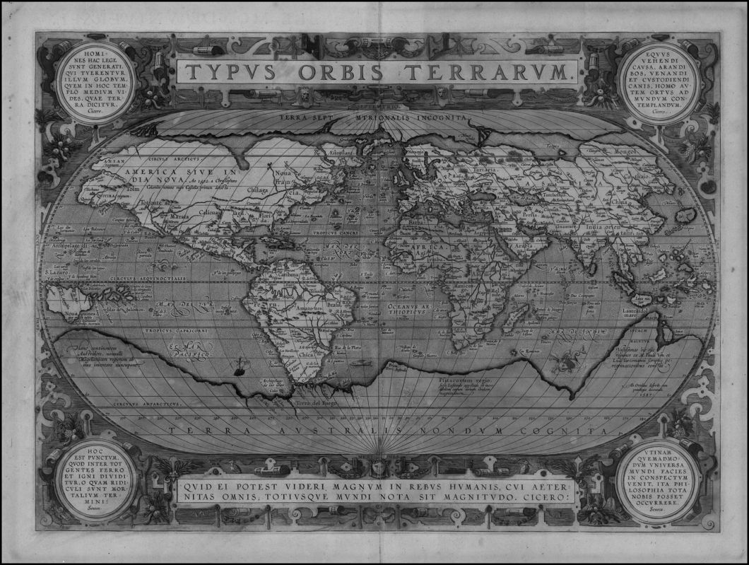 El Theatrum Orbis Terrarum (1570), de Abraham Ortelius. Una sola visión de muchos mundos.
