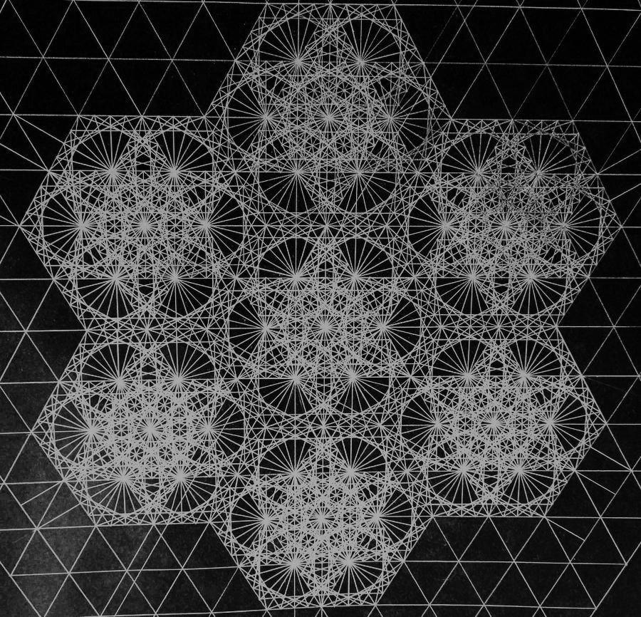 La geometría de un fotón (Foto: Jason Padgett).