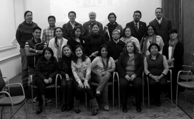 """Participantes de """"La historia y su enseñanza"""" en las instalaciones del Ateneo Español de México. Noviembre 2013."""