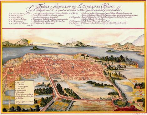 The basin of Mexico, by Juan Gómez de Trasmonte
