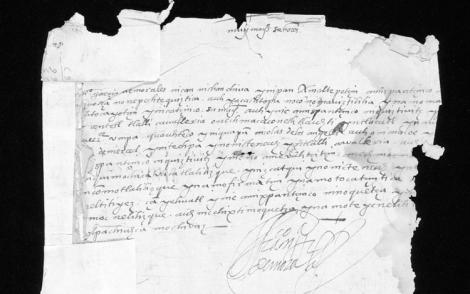 Fragmento de un documento del siglo XVI. Colección Garrett de manuscritos mesoamericanos núm. 15, Universidad Princeton.