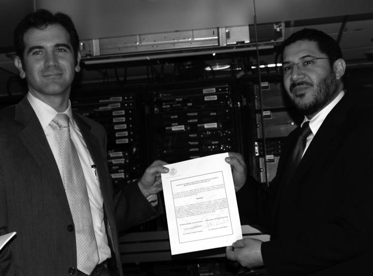 Martí Batres y el presidente del INE