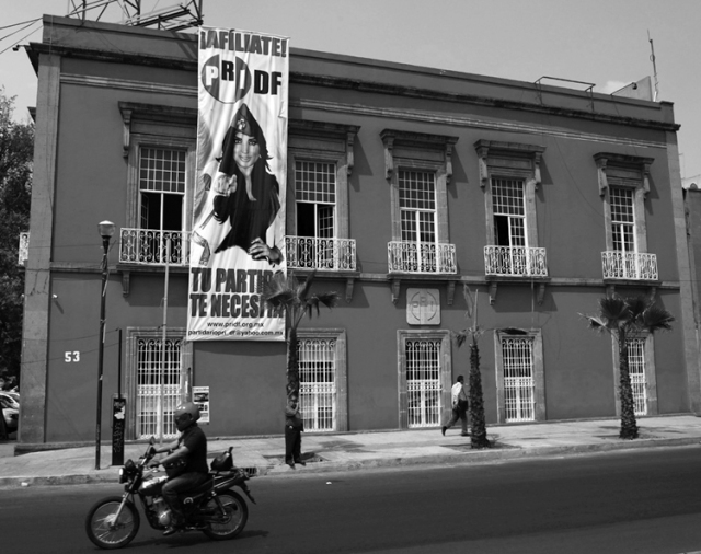 La sede del PRI-DF. (Foto: Marco Ugarte, AP.)