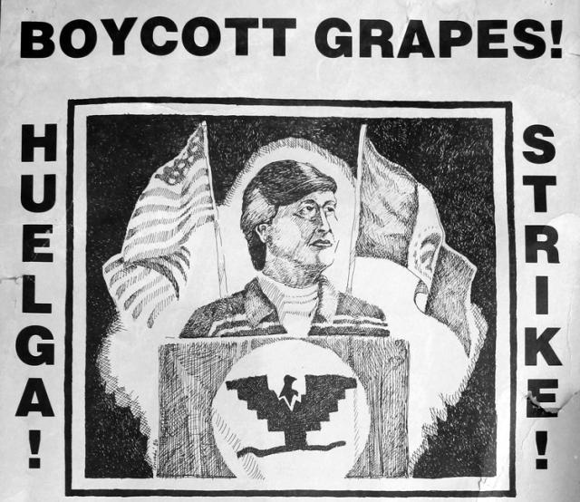 Fragmento del cartel anunciando una conferencia de César Chávez en la Universidad de California, Santa Barbara, en 1987. (Foto: scalar.usc.edu)