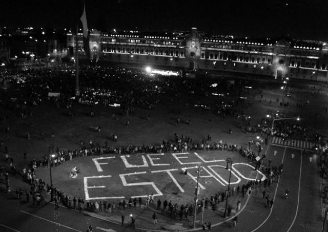En la manifestación del 22 de octubre, 2014. (Foto: Genaro Lozono, vía www.cnn.mx)