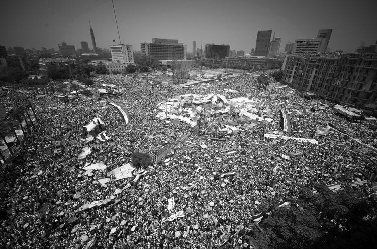 """La plaza Tahir de El Cairo, el 29 de julio, 2011. (Foto"""" Ahmed Abd El-fatah.)"""