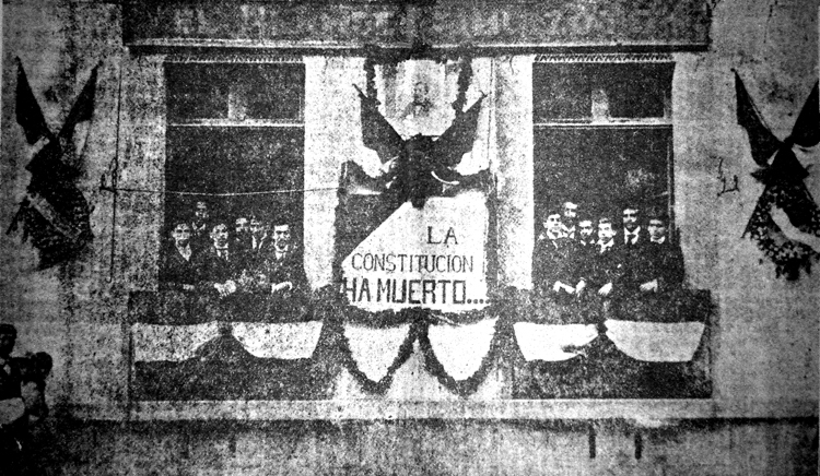 La redacción de El Hijo del Ahuizote en 1903