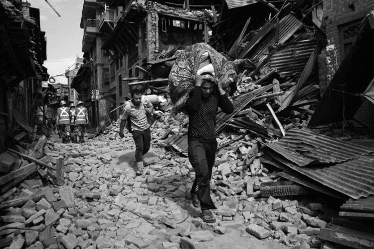 Bhaktapur el 28 de abril, 2015. (Foto: Adam Ferguson.)
