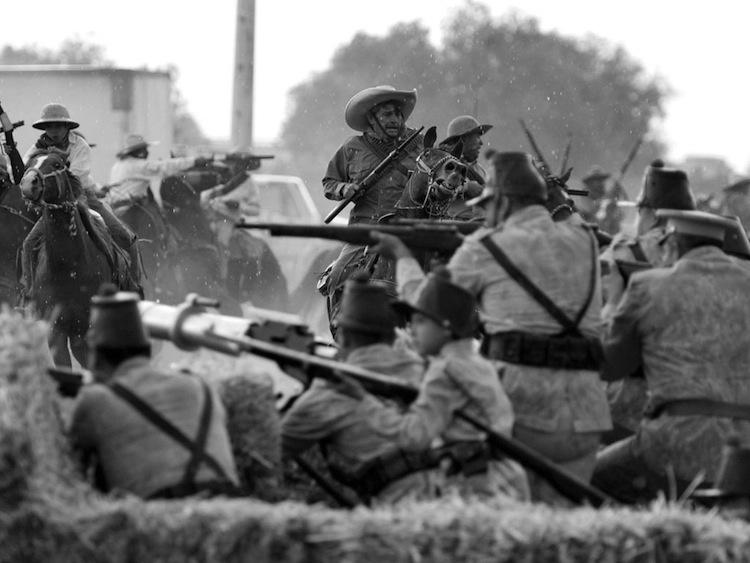 Recreación de la batalla de Celaya, el 11 de abril, 2015. (Foto: Periódico Correo.)