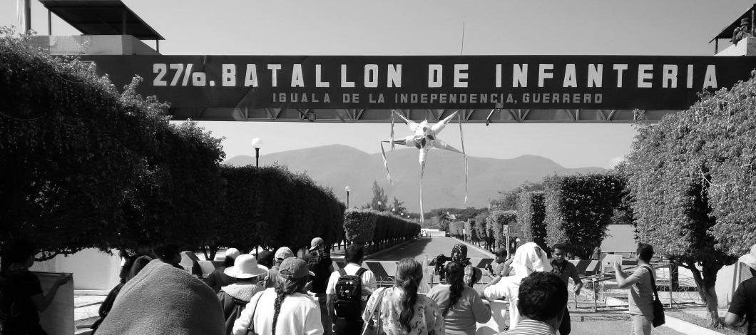 Sede del 27 batallón, diciembre 2014 (Foto: http://www.proceso.com.mx).