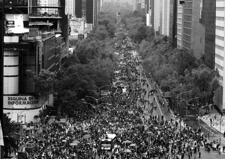 El paseo de la Reforma, el 26 de septiembre, 2015. (Foto: Víctor Camacho.)