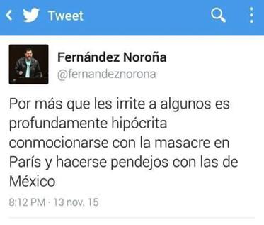 1. Twitt de Fernández Noroña