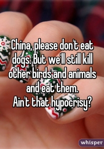 2. Eating dogs in China