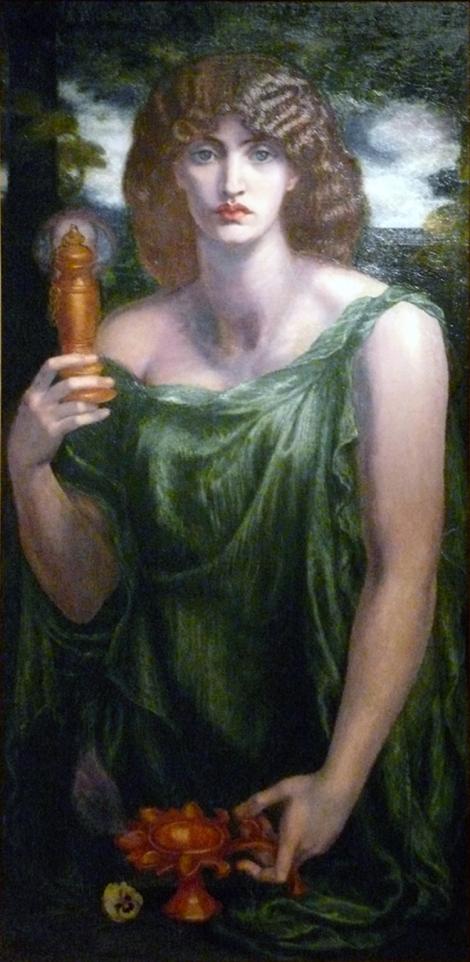 Mnemosine, en la cabeza de Dante Gabriel Rossetti