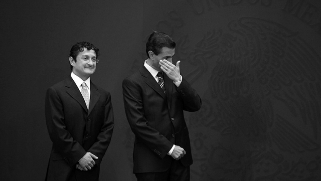 Virgilio Andrade y su amigo, cuando decían querer combatir la corrupción. (Foto: Proceso.)