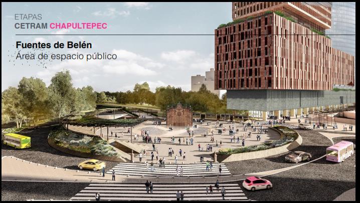 Imagen 2 (Fuente: Presentación CETRAM Chapultepec).
